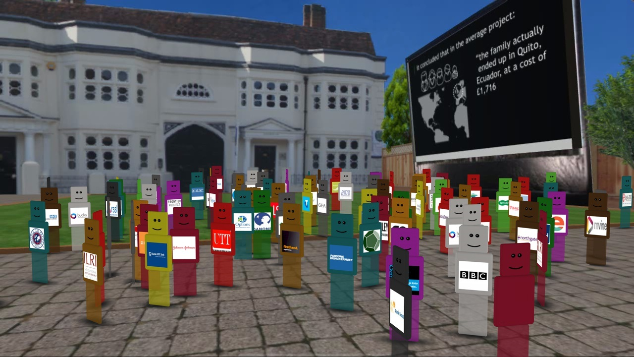 crowd-of-qubot-avatars-on-qube-in-th-new-world-cafe-logofree