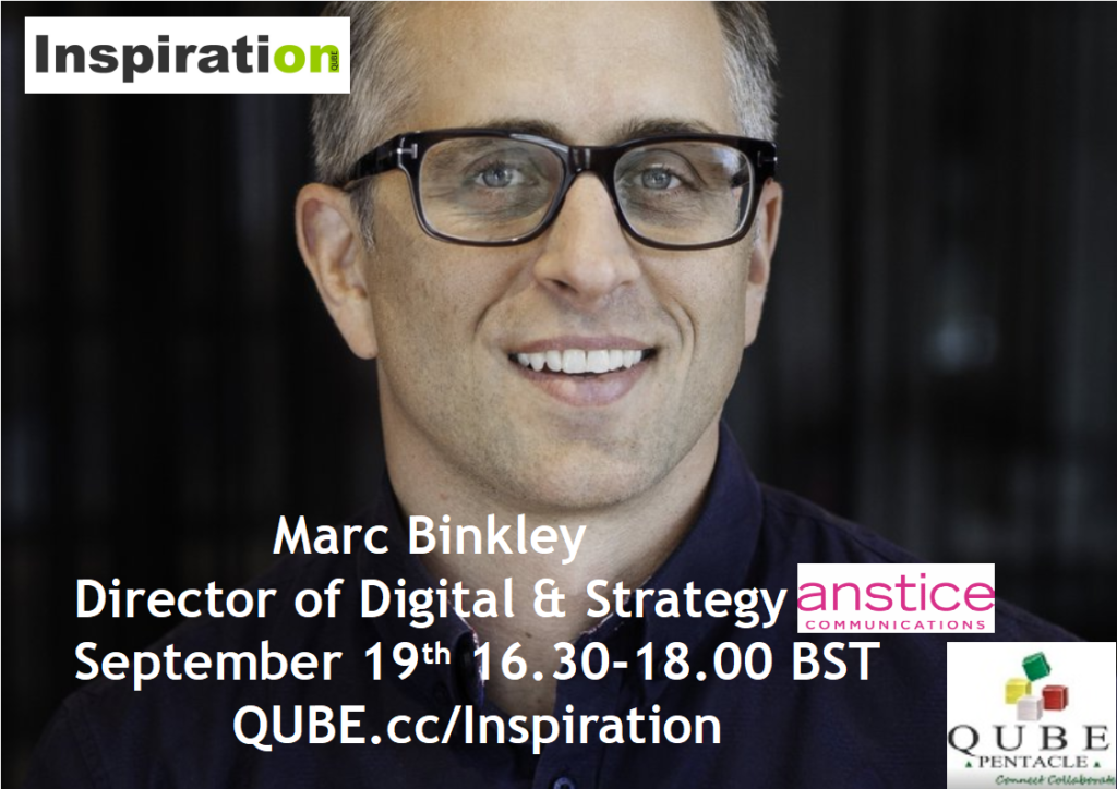 Marc Binkley, Inspiration on QUBE, 19th September 2019